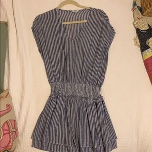 Rails blue and white striped dress